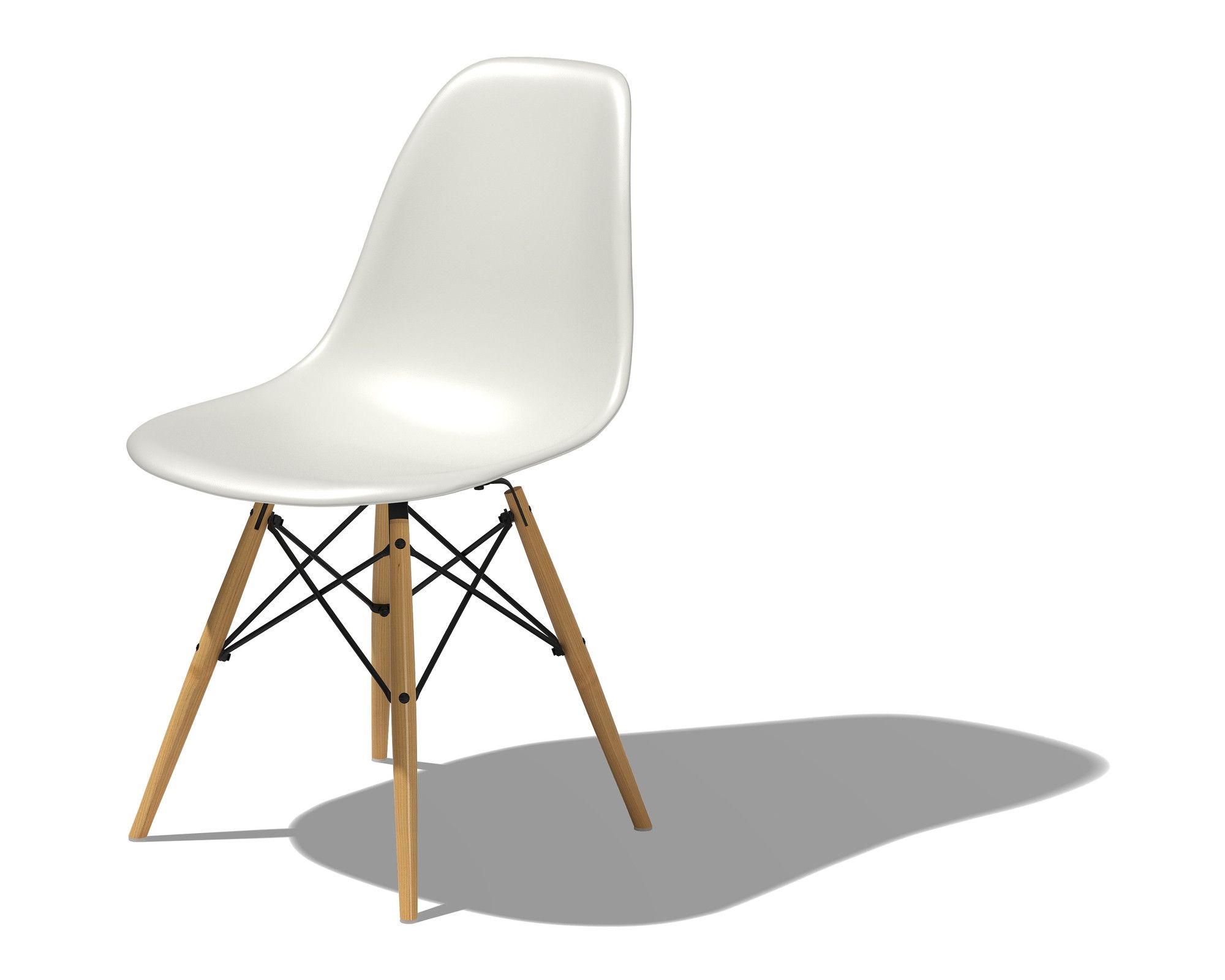 Eames® Molded Plastic Side Chair With Dowel Base .