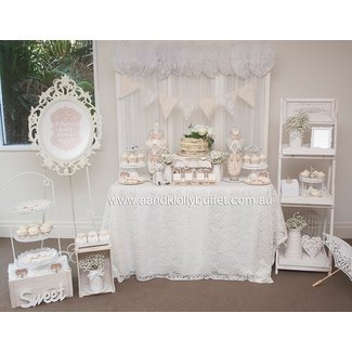 Eshara's White Shabby Chic Baby Shower
