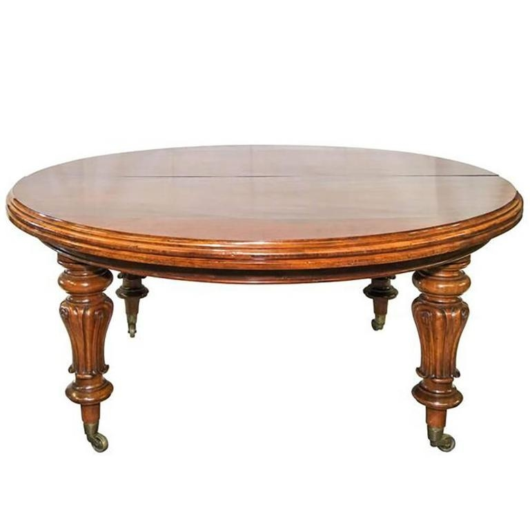 Expandable Antique Dining Table On Casters At 1stdibs
