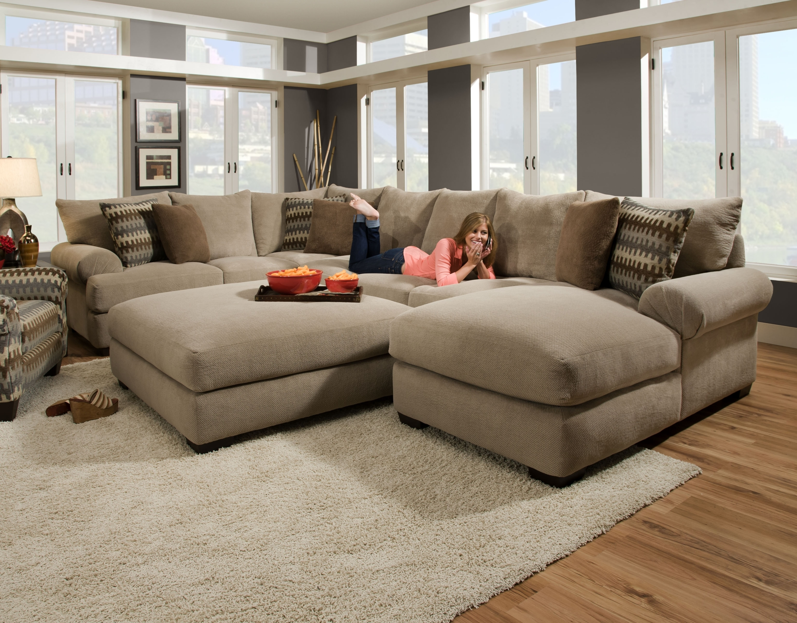 Extra Large Sectional Sofa With Chaise | SOFAS U0026 FUTONS