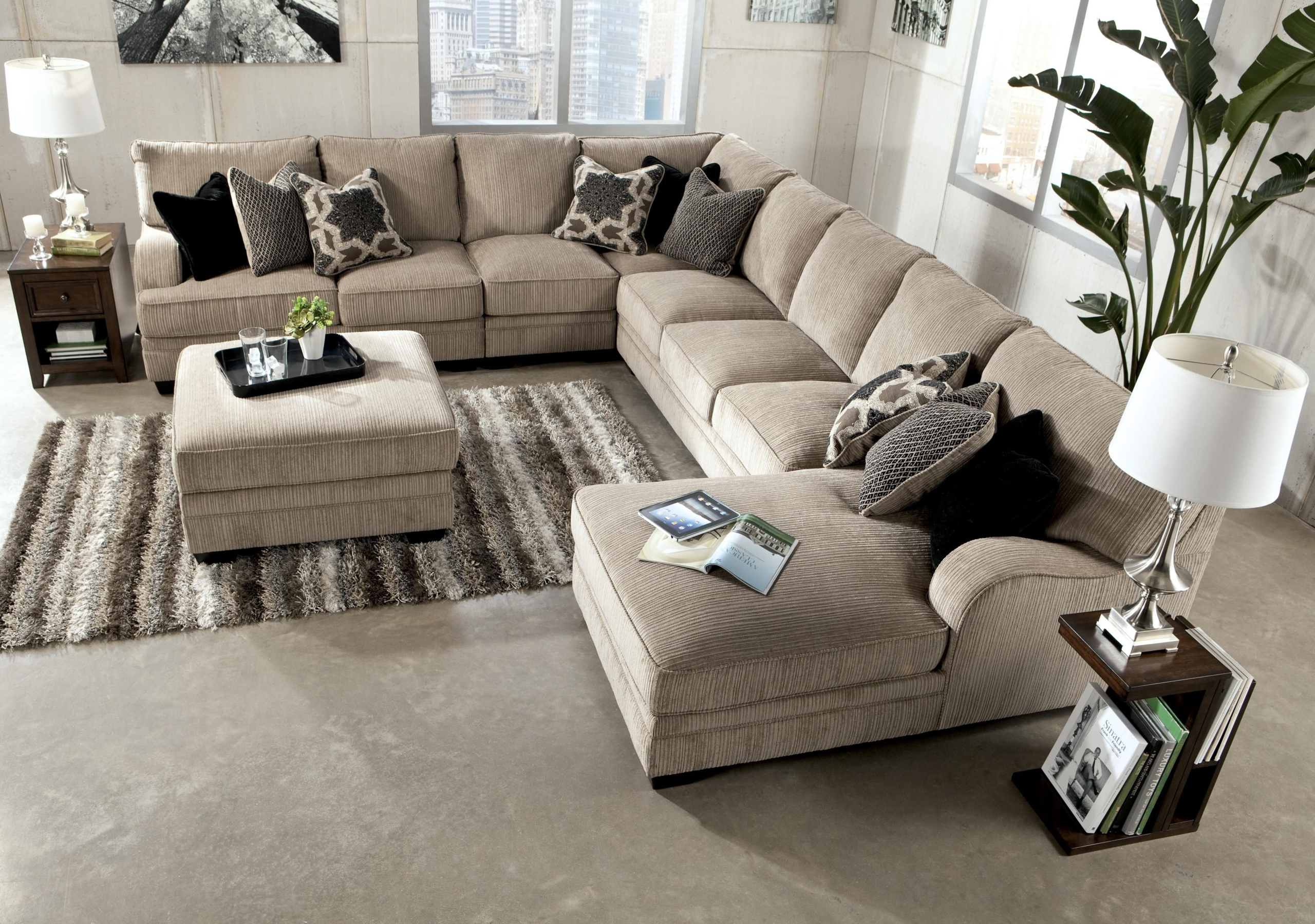extra large sectional sofa visual hunt rh visualhunt com Sectional Sofa with Chaise Lounge Brown Leather Sectional Sofa