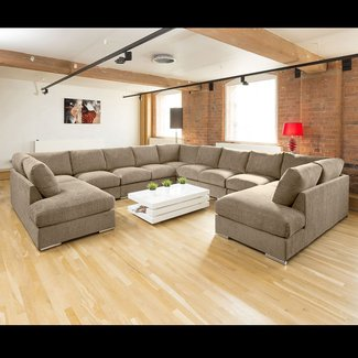 Extra Large Unique Sofa Set Settee Corner Group C Shape