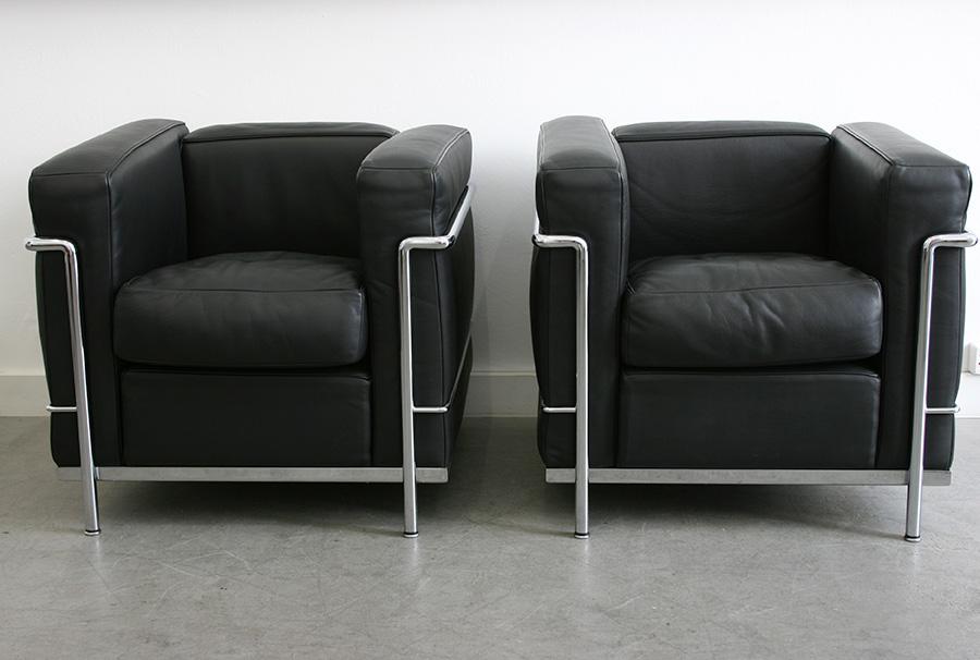 Fauteuils LC2 | Le Corbusier | Cassina | Lausanne, Suisse