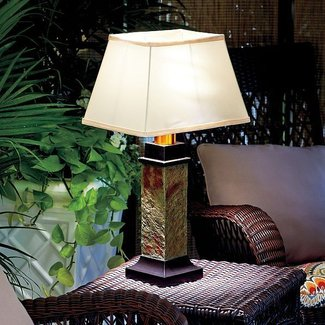 Faux Slate Outdoor Battery Operated Table Lamp ...