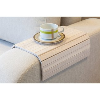 Flexible Wooden Sofa Armrest Tray Table - The Green Head