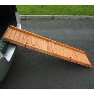 Folding Dog Ramp Wooden For Weak Older Dogs Car Stairs