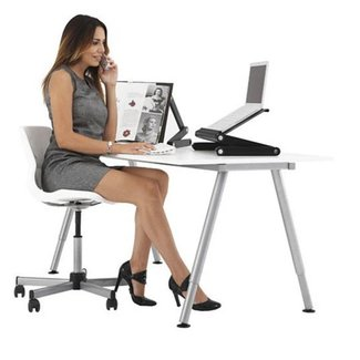 Folding Table Stand For Notebook Laptop With 2 USB Fans