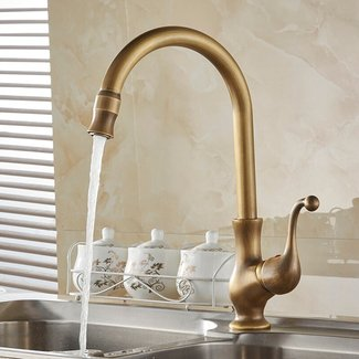 Free Shipping Kitchen taps/cozinha/faucet Antique Brass ...