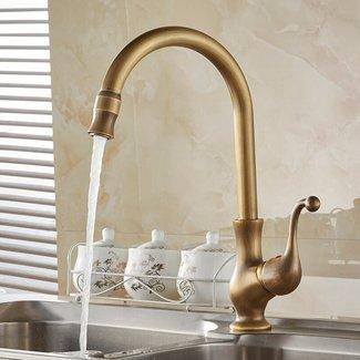 Free Shipping Kitchen taps/cozinha/faucet Antique Brass ...