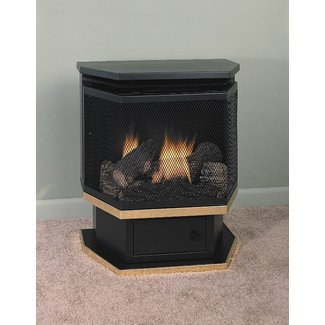 Free Standing Gas Fireplace - Interior Design