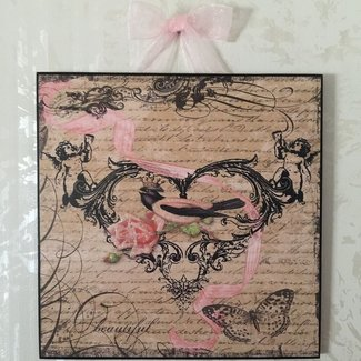 French Country Bird & Rose Plaque Wall Decor Cottage ...