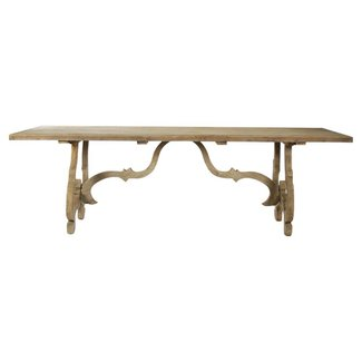 French Country Dining Table - wood stretcher