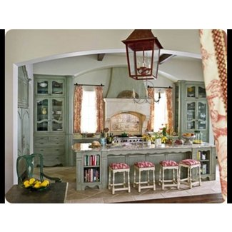 French Country Kitchen Blue / design bookmark #15095