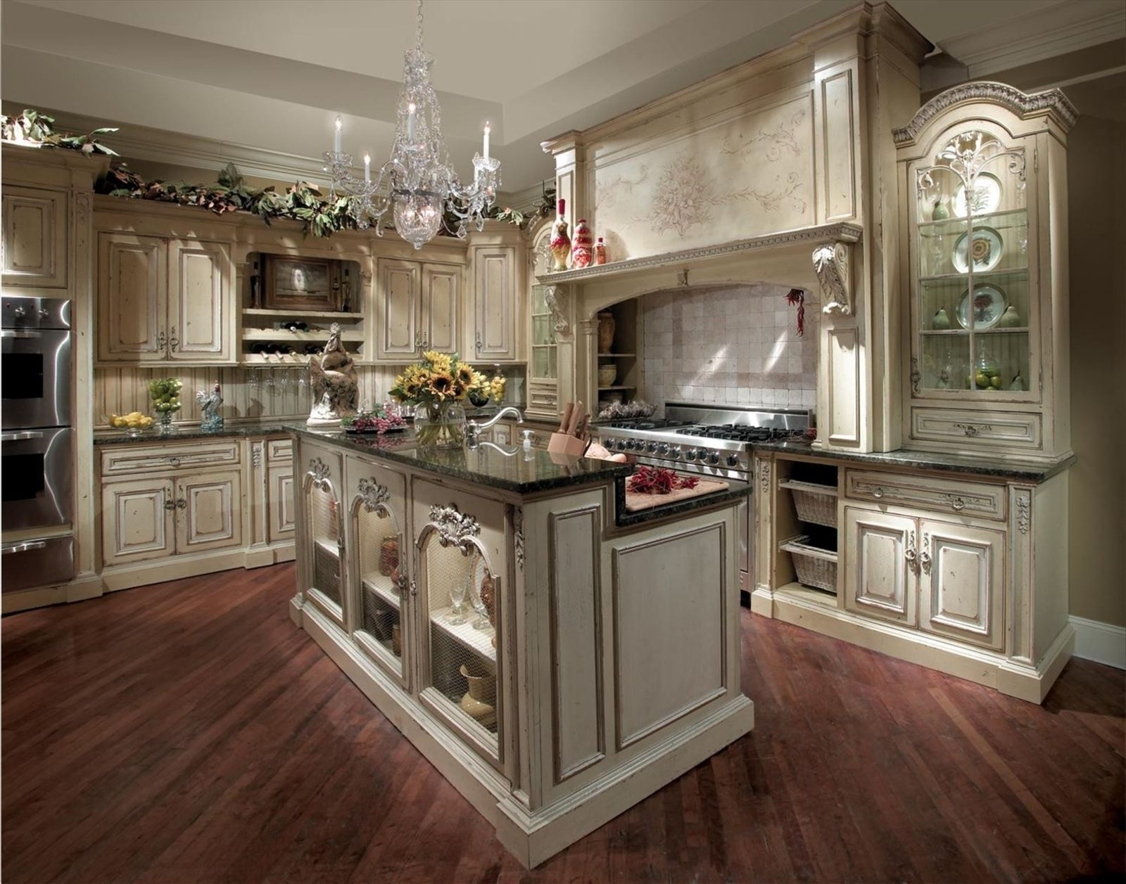 Bon French Country Kitchen Cabinets Design Ideas .