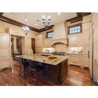 French Country Kitchen Cabinets Minimalist Varnished Wood ...