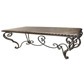 french country wrought iron coffee table | Unique Coffee ...
