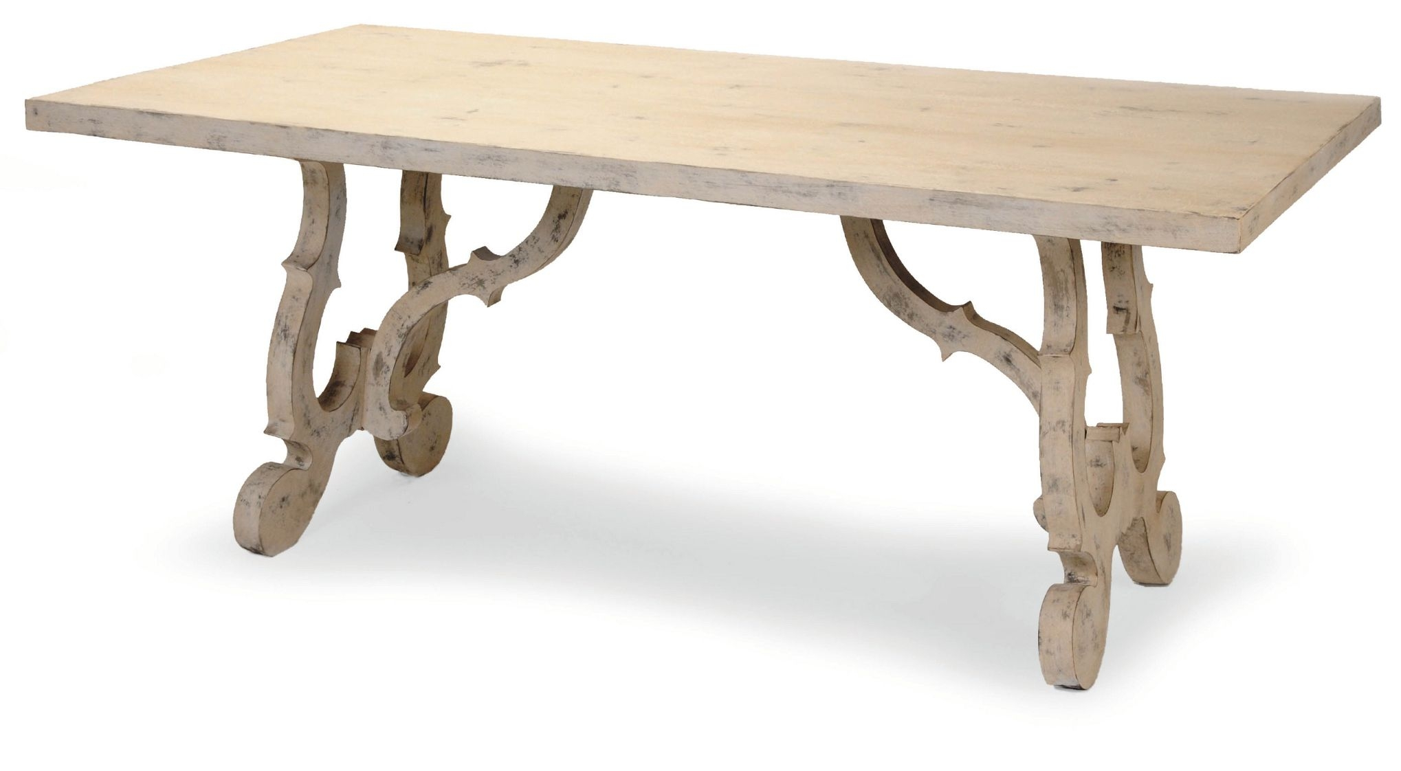French Scroll Base Dining Table   French Country