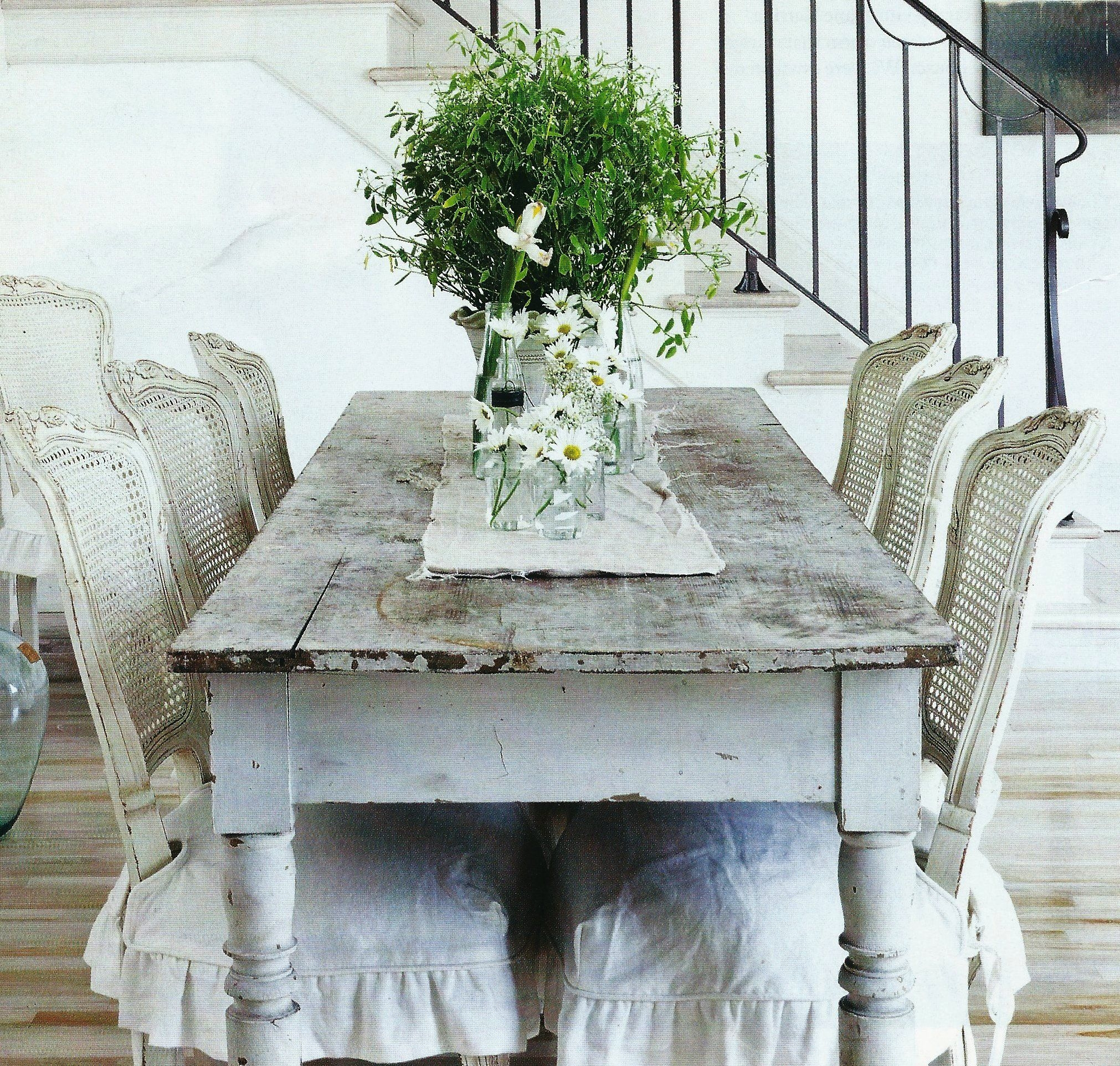 French Shabby Chic Dining Room Table | Design | Pinterest