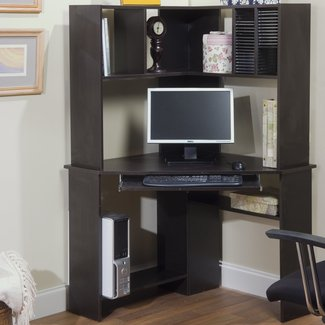 Friedman Corner Computer Desk with Hutch