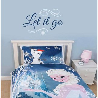 Frozen wall decal - Build a snowman by wildgreenrose.etsy