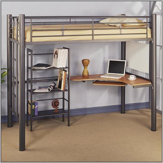 Excellent Full Size Loft Bed With Desk Visual Hunt Download Free Architecture Designs Scobabritishbridgeorg