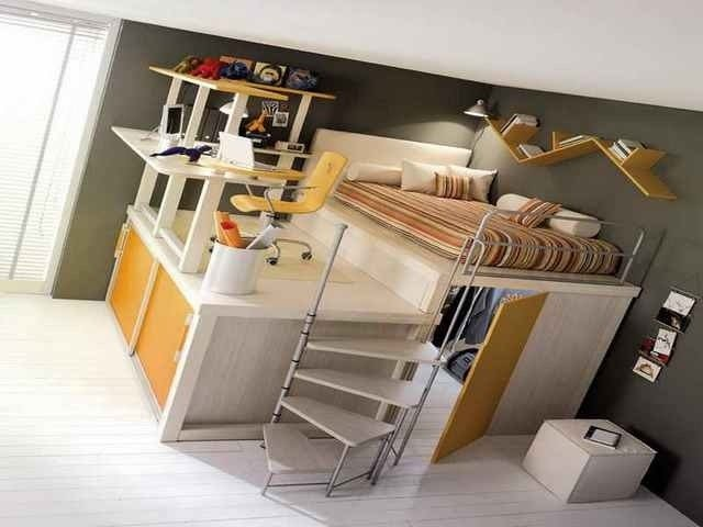 Full Size Loft Bed With Desk You Ll, Bed With Desk Attached