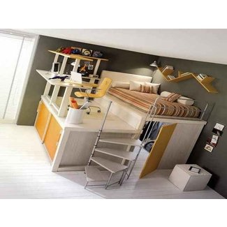 full size loft bed with desk ...