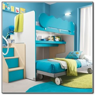 full size loft bed with stairs visual hunt. Black Bedroom Furniture Sets. Home Design Ideas