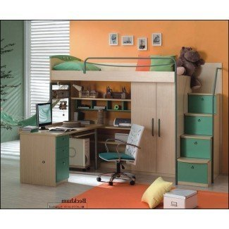 Full Size Loft Bed With Desk And Storage 0 |