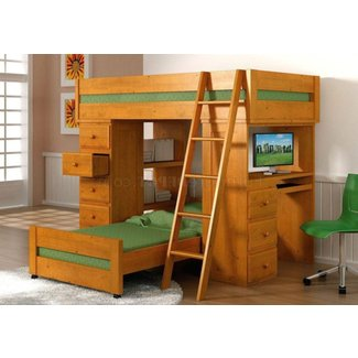 Full Size Loft Bed With Desk Metal. Bedroom Full Size