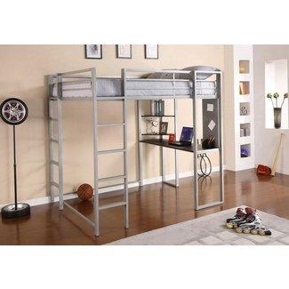 Full Size Loft Bed With Desk Wood | Home Design