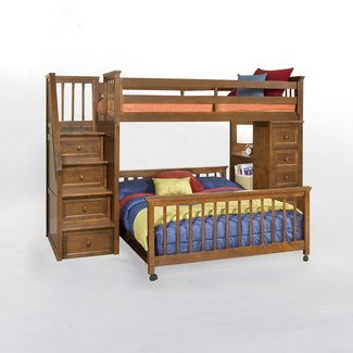 Full Size Loft Bed with Stairs — Loft Bed Design