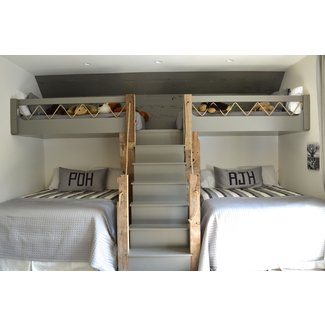 Full Size Loft Bed With Stairs. White Loft Bed With
