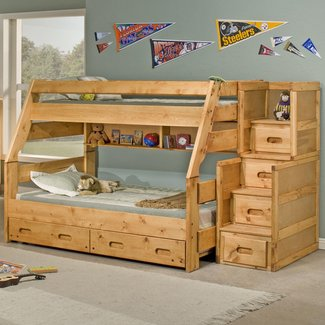 Full Size Loft Bed With Stairs |