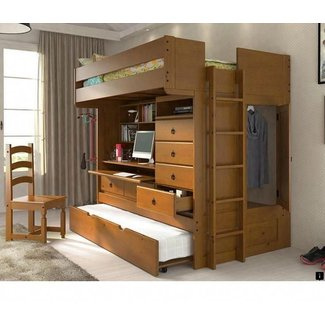 Full Size Metal Loft Bed with Desk – Home Improvement