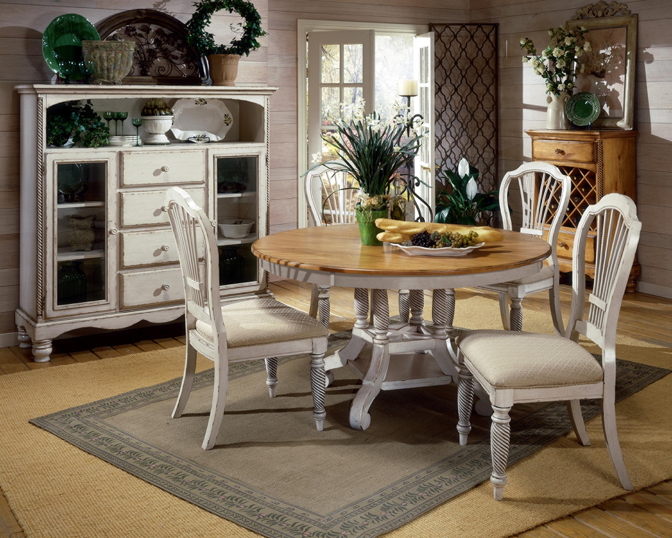 Furniture: Beautiful Spacious French Country Dining Room .
