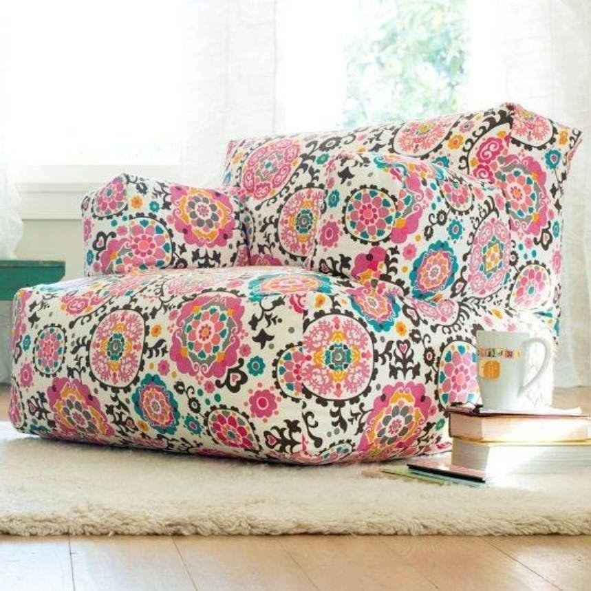 Furniture , Cool And Comfy Teen Bedroom Chairs : Floral .