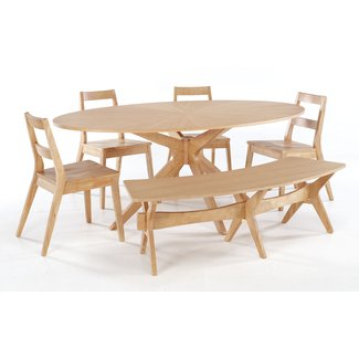 Furniture. Wonderful Wood Dining Tables With Benches ...