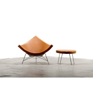 George Nelson for Herman Miller Coconut Chair and Ottoman ...