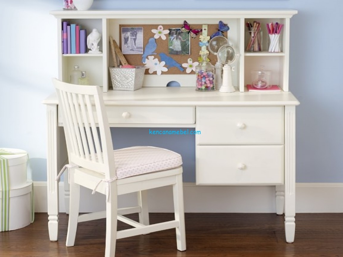Superbe Girls Bedroom Ideas With Small White Study Desk And Chair