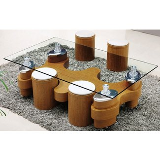 Glass Coffee Table With Stools | Coffee Table Design Ideas