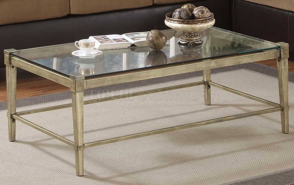 Glass Metal Coffee Table Hand Wrought Iron Coffee Table .
