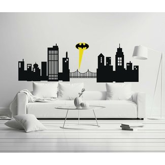 Gotham City - Boy Girl Room - Mural Wall Decal Sticker For Home Car Laptop