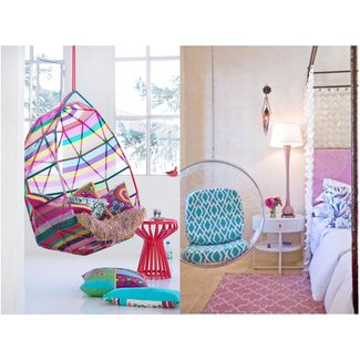 Hanging chairs for girls bedrooms | Home Interiors
