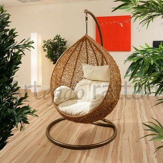 Hanging Wicker Chair for Indoor and Outdoor Extra Sitting ...
