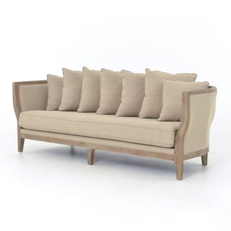 Harcourt French Country Solid Oak White Wash Sofa