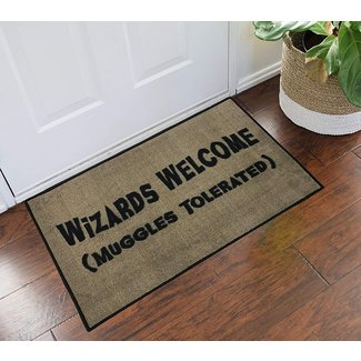 Harry Potter Wizards Welcome Muggles Tolerated - 2x3 - Doormat