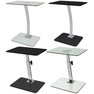 Hartleys Glass Laptop Table - Fixed, Portable or Adjustable