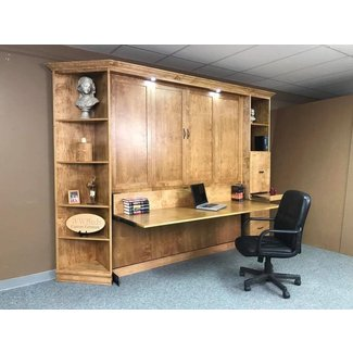 Heavy Front KING Murphy bed with Desk| Custom - by