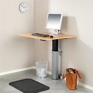 Height adjustable computer desk: wall mounted | AJ Products